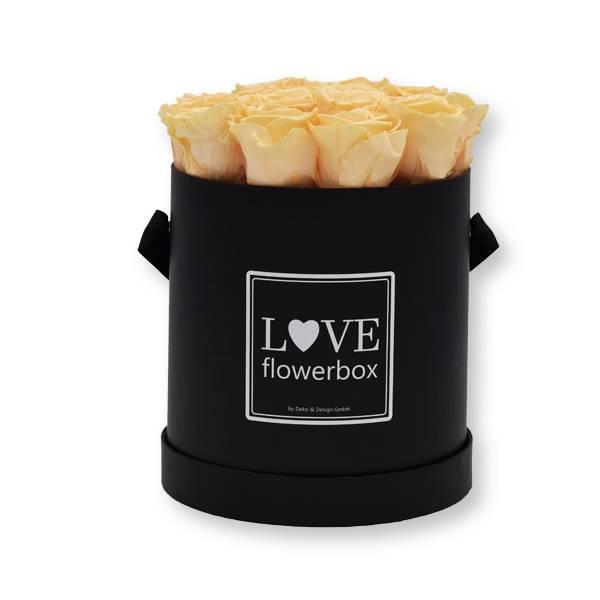 Flowerbox_rosenbox_blumenbox_rund_Large_schwarz_Infinity_Rosen_peach_aprikotpfirsich.jpg