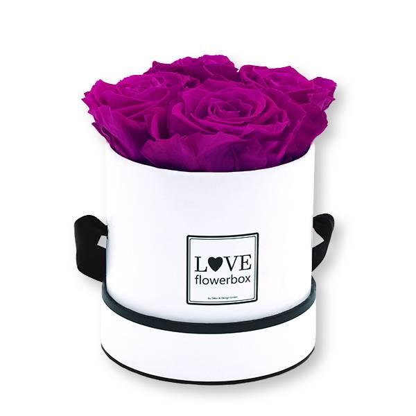 Flowerbox_rosenbox_blumenbox_rund_Small_weiss_Infinity_Rosen_purpur_lila.jpg