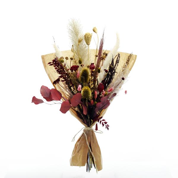 Trockenblumenstrauß Burgunder Liebe L | Trockenblumen rot-bordeaux