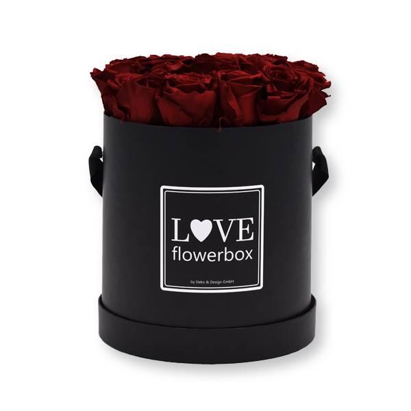 Flowerbox Modern | Large | Rosen Burgundy (Bordeaux)