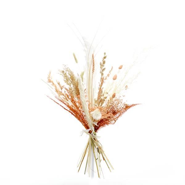 Trockenblumenstrauß Pastellzauber M | Trockenblumen weiss-aprikot