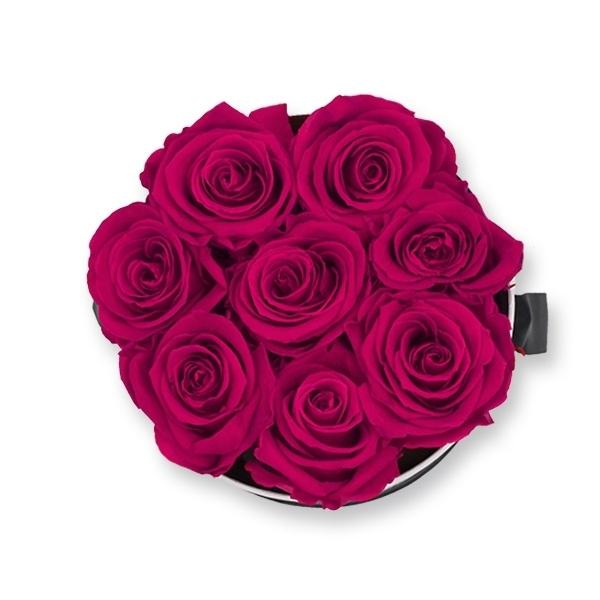 Rosenbox Infinity Rosen himbeere | Flowerbox | Blumenbox | M Modern black