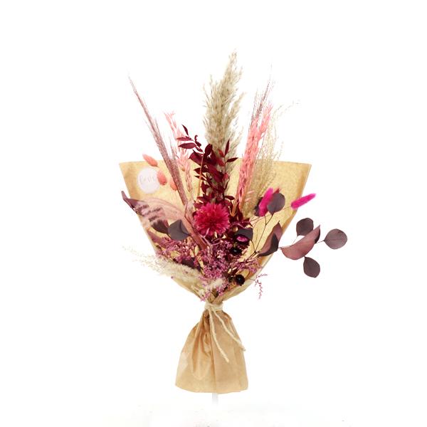 Trockenblumenstrauß Beerentraum M | Trockenblumen natur-koralle-pink-beere