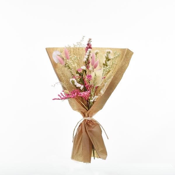 Trockenblumenstrauß Traumfarben M | Trockenblumen weiss-rosa-pink
