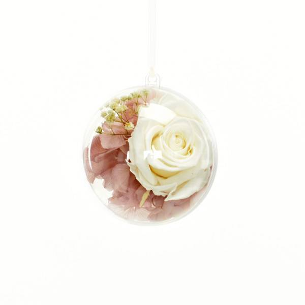 Flowerball mit Rose weiss und Hortensie