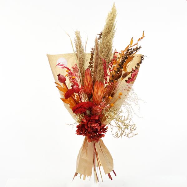 Trockenblumenstrauß Herbststimmung L | Trockenblumen natur-orange-rot-braun