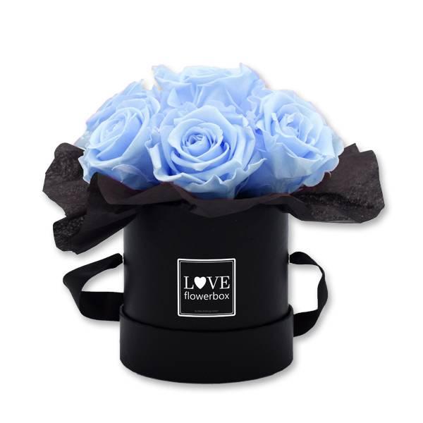 Flowerbox_Kugelfoermig_bouquet_Rund_Small_schwarz_Infinity_Rosen_baby_blue_hellblau_blau.jpg