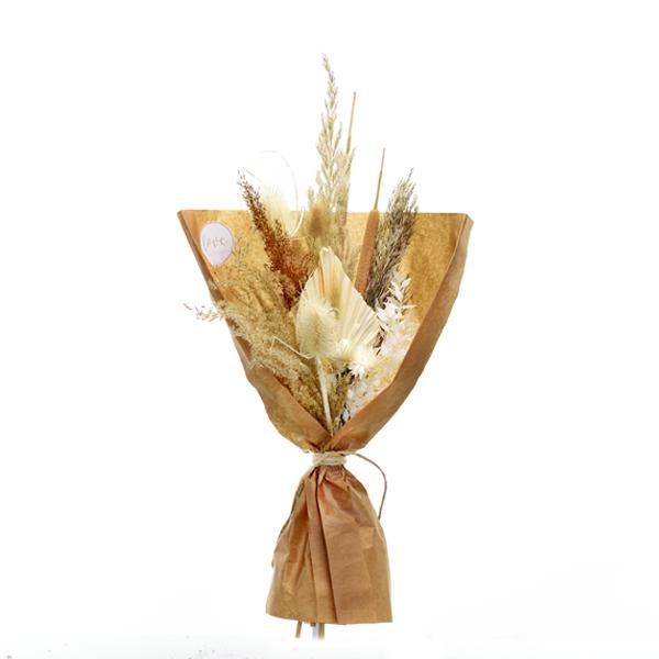 Trockenblumenstrauß Boho Liebe M | Trockenblumen weiss-natur-braun