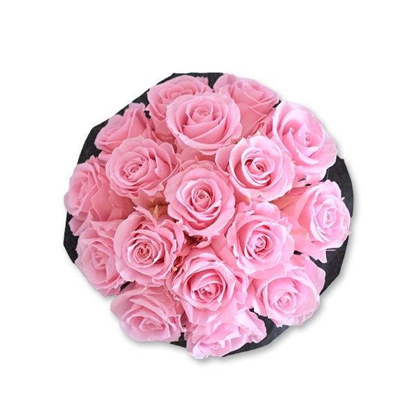 Rosenbox Infinity Rosen rosa   Flowerbox   Blumenbox   M Bouquet black