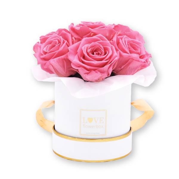Flowerbox_rosenbox_blumenbox_rund_Small_weiss_gold_Bouquet_Infinity_Rosen_babypink_rosa_hellrosa_1.jpg