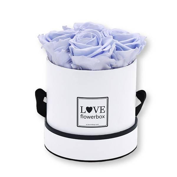 Flowerbox_rosenbox_blumenbox_rund_Small_weiss_Infinity_Rosen_coollavender_lavendel_flieder.jpg