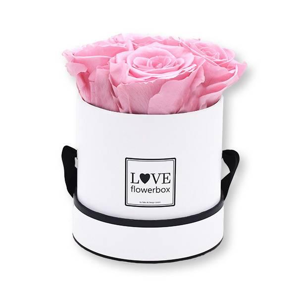Rosenbox Infinity Rosen rosa | Flowerbox | Blumenbox | Small Modern white