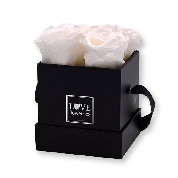Flowerbox Modern | Small | Rosen Pure White (Weiß)