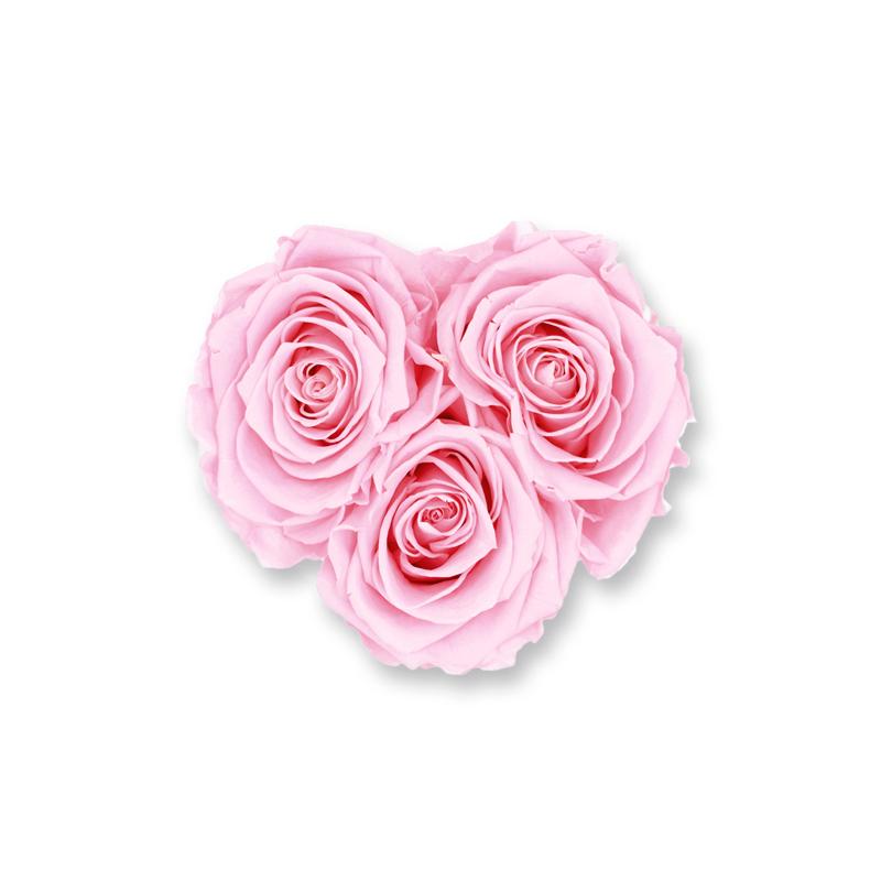 Rosenbox Herz Infinity Rose rosa | Flowerbox Herzbox | XS white gold