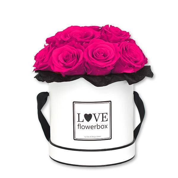 Flowerbox Bouquet   Medium   Rosen Hot Pink (Pink)