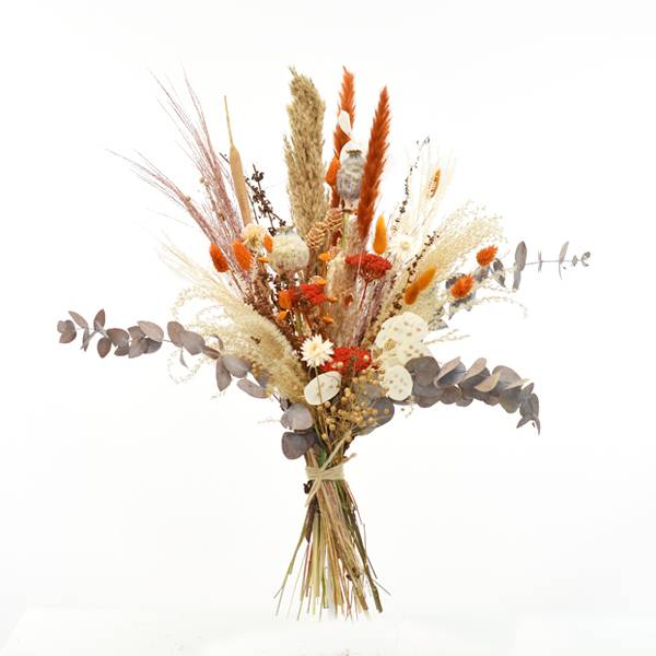 Trockenblumenstrauß Morgenrot L | Trockenblumen natur-amber-braun