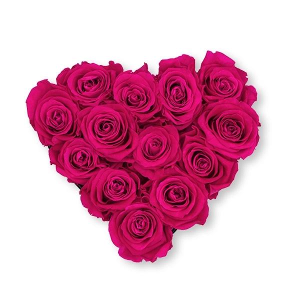 Rosenbox Herz Infinity Rosen pink | Flowerbox Herzbox | M black