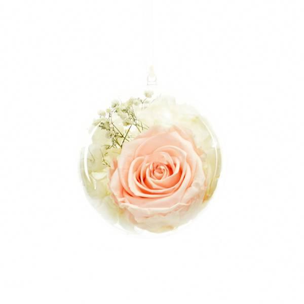 Flowerball mit Rose pastellrosa und Hortensie