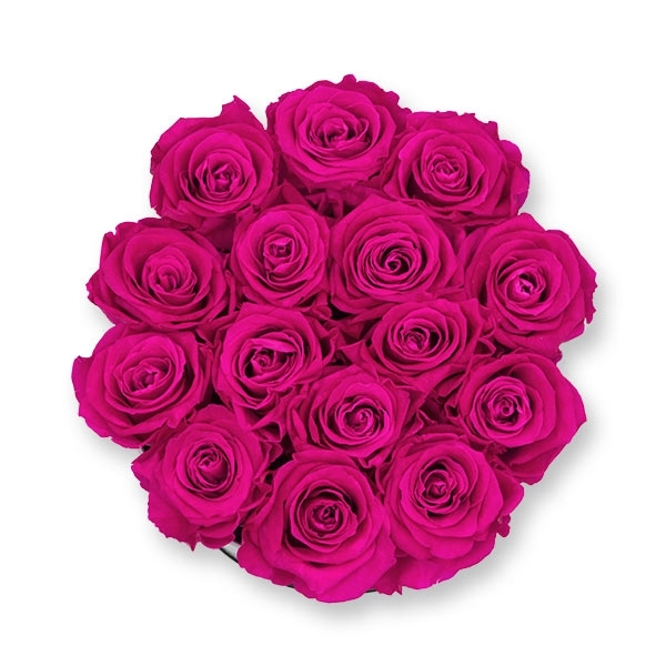 Rosenbox Infinity Rosen pink | Flowerbox | Blumenbox | L Modern black