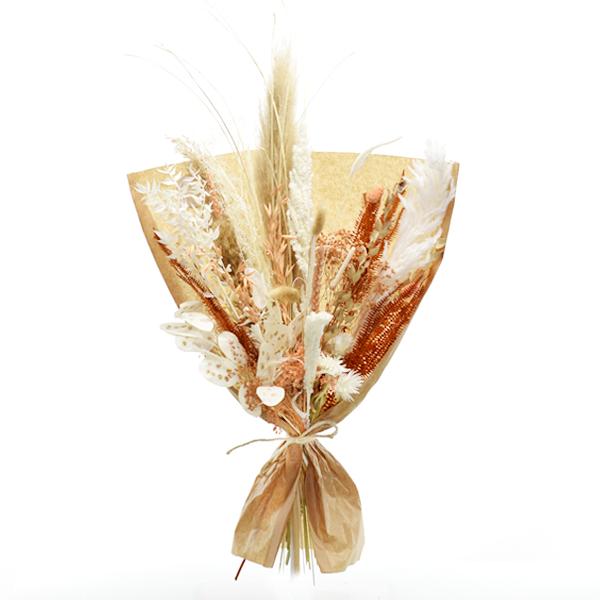 Trockenblumenstrauß Pastellzauber L | Trockenblumen weiss-aprikot