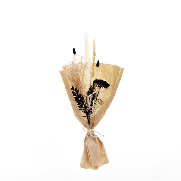 Trockenblumenstrauß Schwarz und Weiß S | Trockenblumen natur