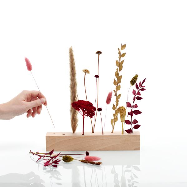 Trockenblumen | Blütenleiste | Burgunder Liebe | natur-rot-bordeaux