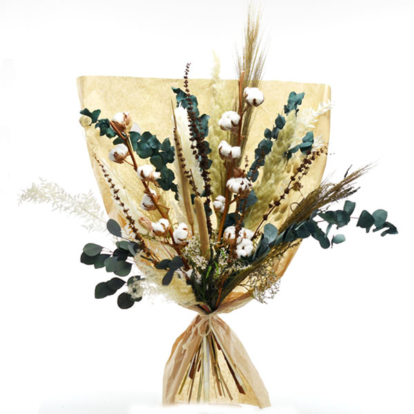 Trockenblumenstrauß Natur Pur XL | Trockenblumen weiss-natur-grün