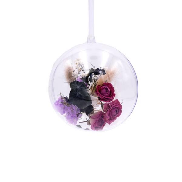 Trockenblumen   Blütenkugel Acryl   natur-pink-flieder   Lagurus, Rosen, Statice