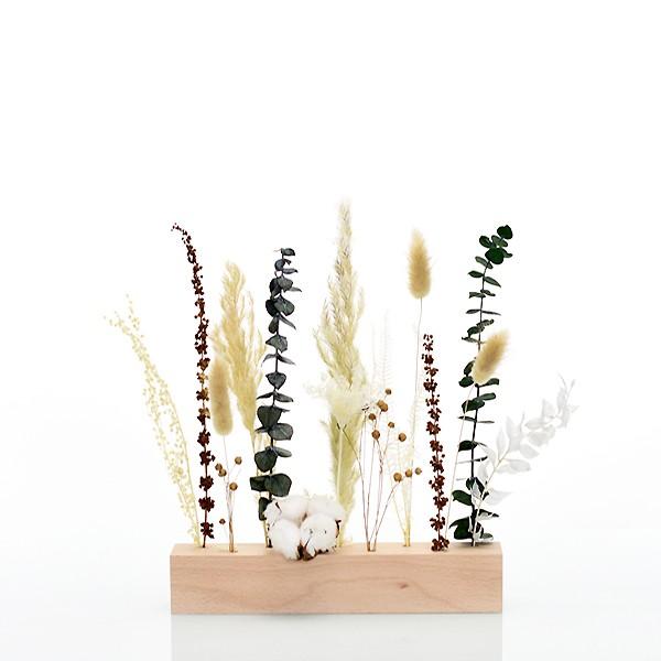 Trockenblumen | Blütenleiste | Natur Pur | weiss-natur-grün-braun
