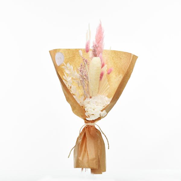 Trockenblumenstrauß Zartliebe M | Trockenblumen weiss-ivory-natur-rosa