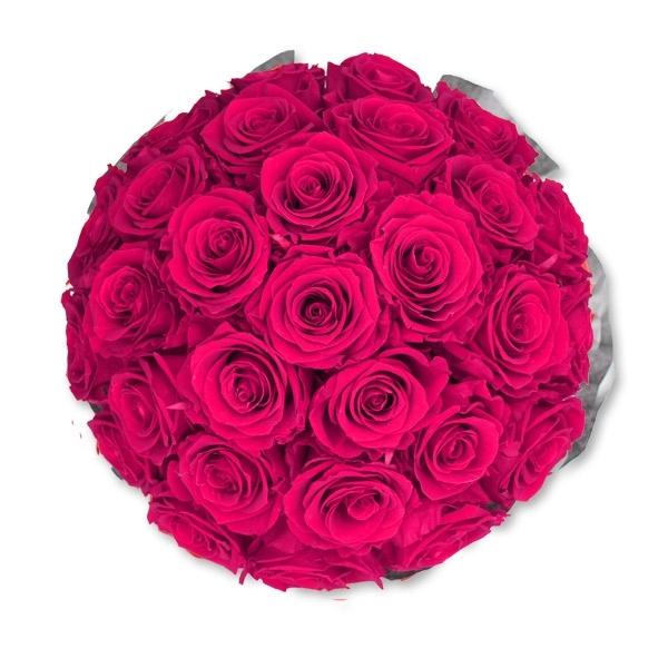 Rosenbox Infinity Rosen pink | Flowerbox | Blumenbox | L Bouquet white