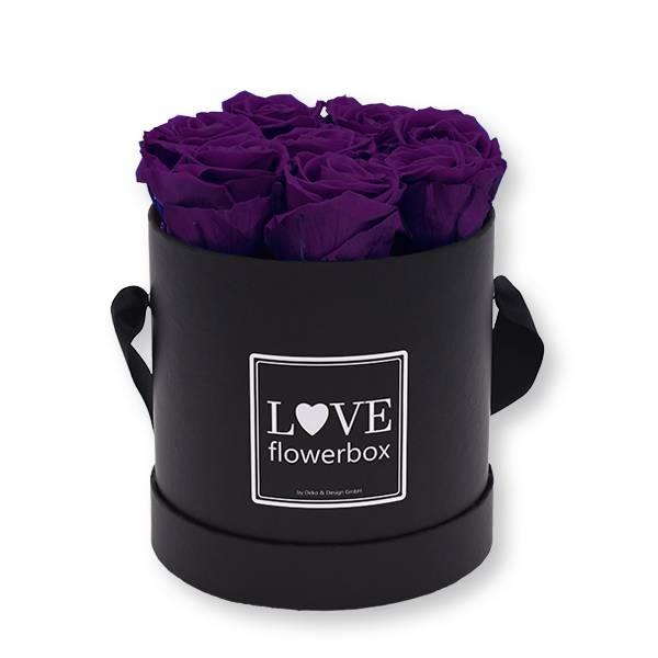 Flowerbox_rosenbox_blumenbox_rund_Medium_schwarz_Infinity_Rosen_lilac_lila.jpg