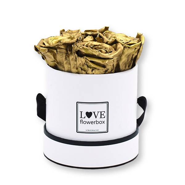 Flowerbox_rosenbox_blumenbox_rund_Small_weiss_Infinity_Rosen_gold.jpg