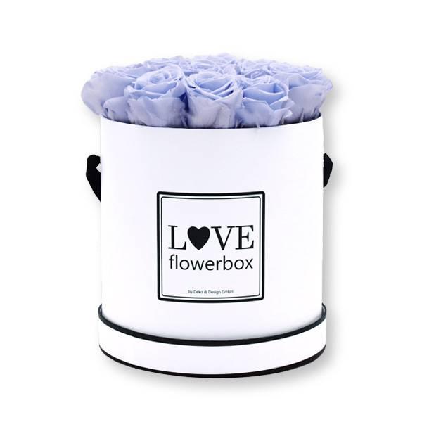Flowerbox_rosenbox_blumenbox_rund_Large_weiss_Infinity_Rosen_coollavender_flieder.jpg