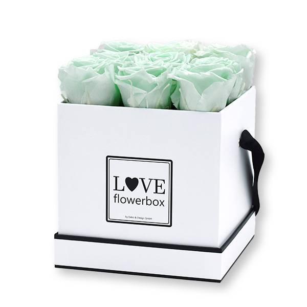 flowerbox_rosenbox_blumenbox_eckig_Medium_weiss_Infinity_Rosen__minty_green_mint_gruen.jpg