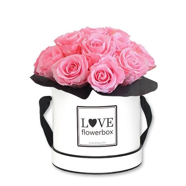 Flowerbox Bouquet   Medium   Rosen Baby Pink (Rosa)