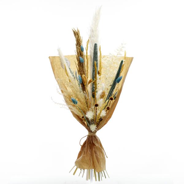 Trockenblumenstrauß Eisprinzessin L | Trockenblumen weiss-eisblau-natur