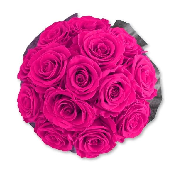 Rosenbox Infinity Rosen pink   Flowerbox   Blumenbox   M Bouquet white
