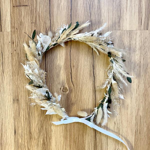Trockenblumen Kopfkranz Braut | Trauzeugin | Boho Liebe | natur