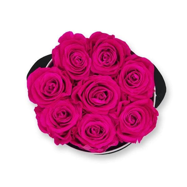 Rosenbox Infinity Rosen pink   Flowerbox   Blumenbox   M Modern white