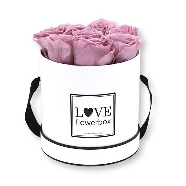 Flowerbox_rosenbox_blumenbox_rund_Medium_weiss_Infinity_Rosen_mauve_malve.jpg