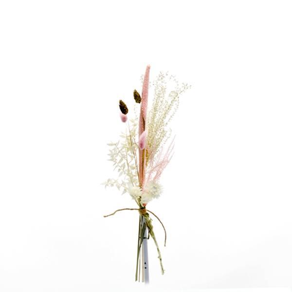Trockenblumenstrauß Rosezauber S | Trockenblumen weiss-rosa-gold