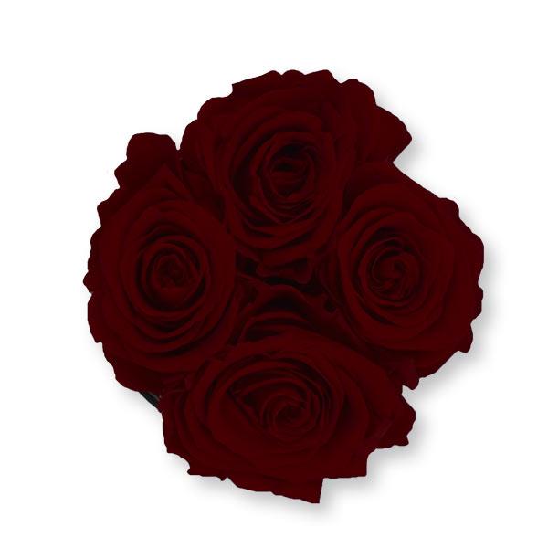 Rosenbox Infinity Rosen bordeaux | Flowerbox | Blumenbox | S Modern w gold
