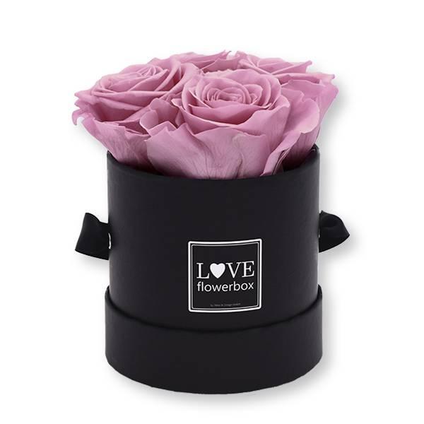 Flowerbox_rosenbox_blumenbox_rund_Small_schwarz_Infinity_Rosen_mauve_altrosa_malve.jpg