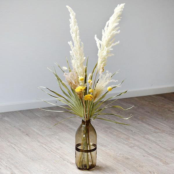 Trockenblumenstrauß Mix | Set Wiesenliebe | Trockenblumen weiss-natur-gelb-grün