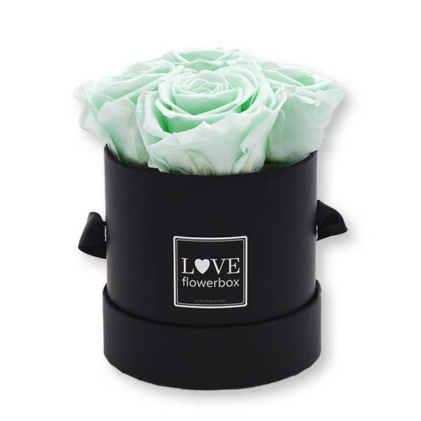 Flowerbox_rosenbox_blumenbox_rund_Small_schwarz_Infinity_Rosen_mintygreen_mint.jpg