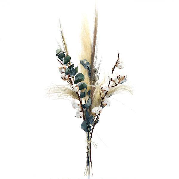 Trockenblumenstrauß Mix | Set Natur Pur | natur-braun-grün | Eukalyptus, Baumwolle, Pampasgras, Eryanthus natur