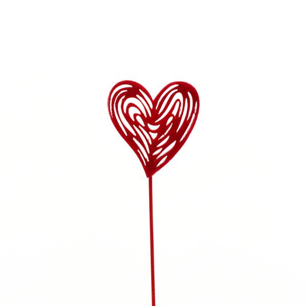 Herzstecker-rot