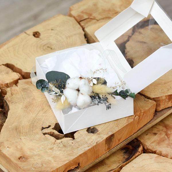 Trockenblumen Armband Braut | Trauzeugin | Natur Pur | weiss-grün-braun