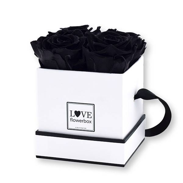 Flowerbox Modern   Small   Rosen Black (Schwarz)